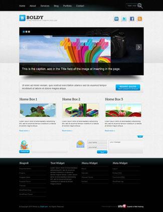 Boldy Free WordPress Photo/PortfolioTheme