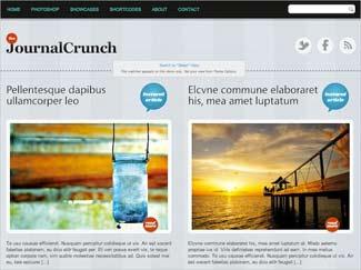Journal Crunch Free WordPress Photo Theme