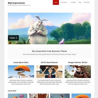 MYCorporation WordPress Photo Theme
