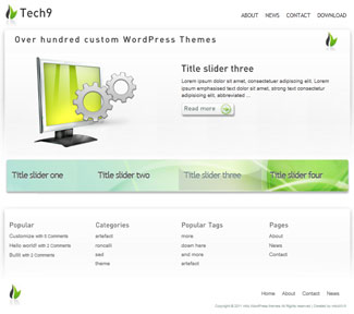 Tech9 Free WP Photo Theme