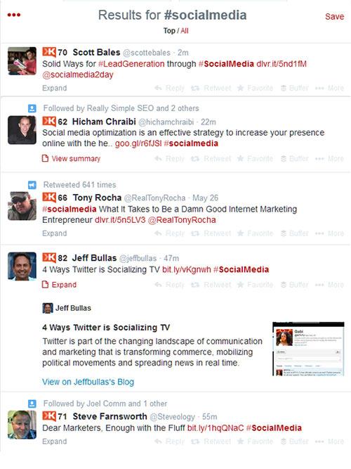 hashtag search for the tag #socialmedia
