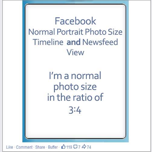 Facebook portrait photo size image
