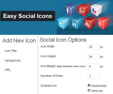 Social Follow Buttons - Easy Social Icons WP plugin