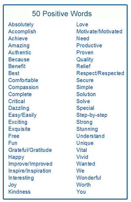 List of good words for essays
