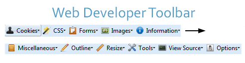 Web Developer Toolbar Screenshot