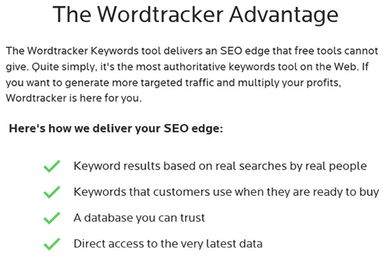 Wordtracker Advantages