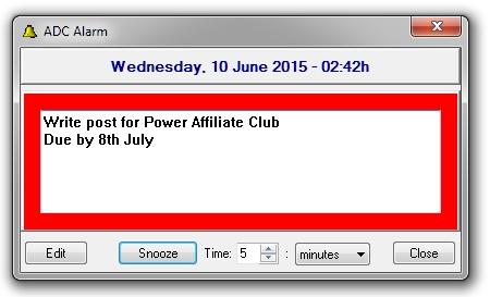 Desktop Reminder Alarm