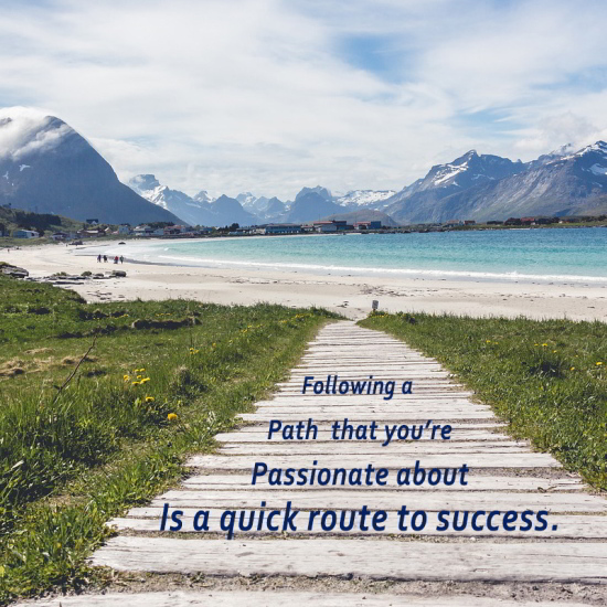 Example of Best Web Images - Sea Mountains, Path, Quote