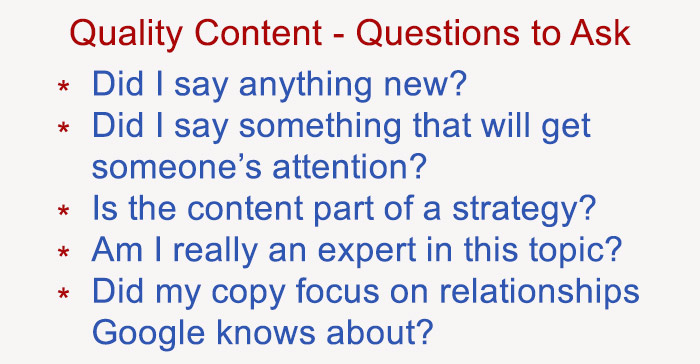 6 questions about quality content
