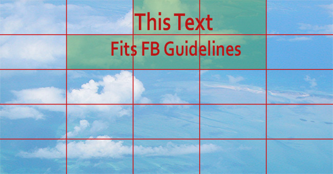 Facebook Grid with 20% Text