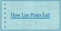 10 Reasons Blog List Posts Fail – A List Post About List Posts 2