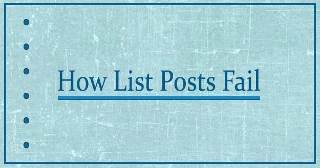 How List Posts Fail