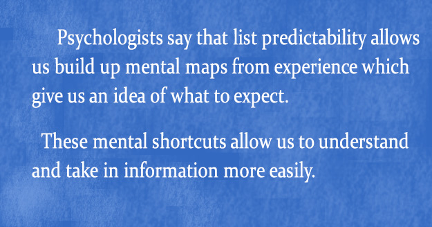 Psychologists quote on list predictability