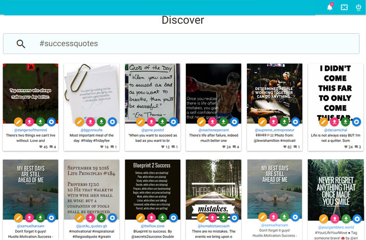 Instamate - Discover images by hashtag